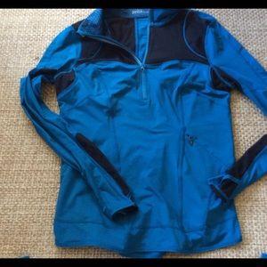 Zella yoga pullover jacket teal blue size Large